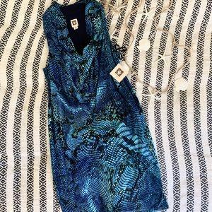 NWT- ANNE KLEIN BLUE MULTI DRESS